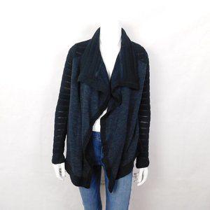 Lucky Brand Black Knit Cardigan Sweater Large